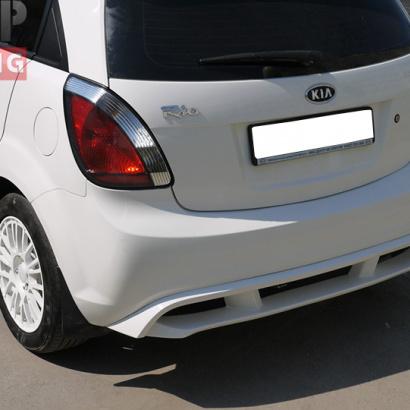 Накладка на задний бампер на Kia Rio 2