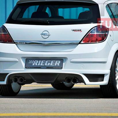Накладка на задний бампер на Opel Astra H 5D