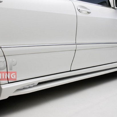 Боковые пороги  на Mercedes S-Class W220