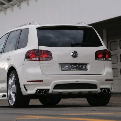 Накладка на задний бампер на VW Touareg I