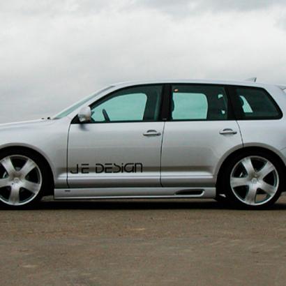 Накладки на пороги на VW Touareg I