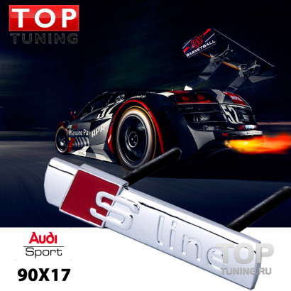 Эмблема в решетку радиатора на Audi
