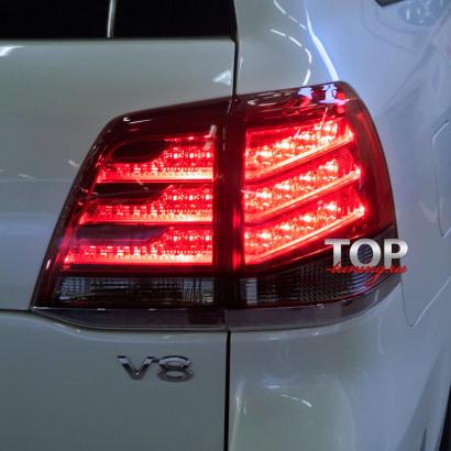 Задние фонари LC200 Lexus Style на Toyota Land Cruiser 200