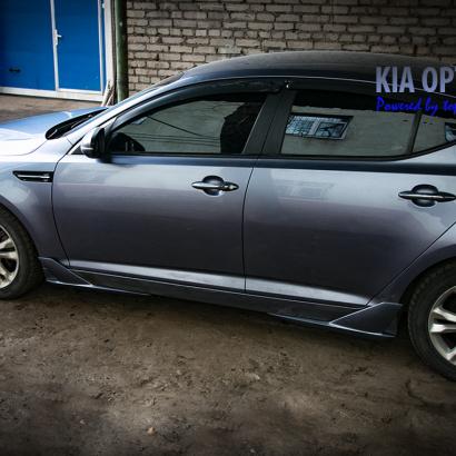 Накладки на пороги на Kia Optima 3 (K5)