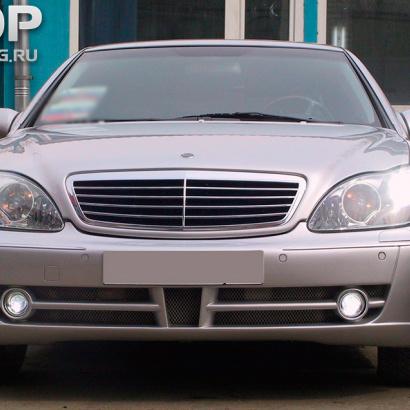 Передний бампер на Mercedes S-Class W220