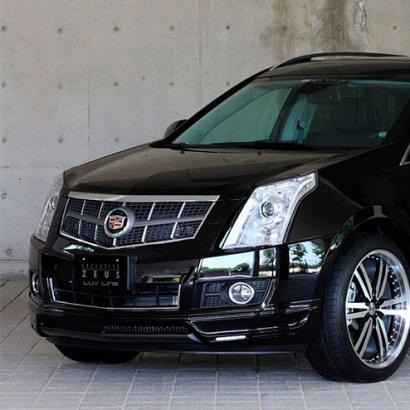 Юбка переднего бампера на Cadillac SRX 2