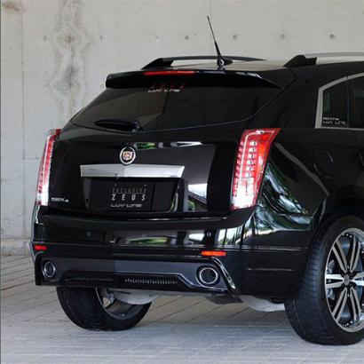 Юбка заднего бампера на Cadillac SRX 2