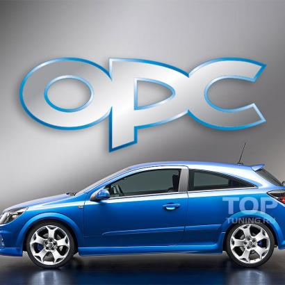 Накладки на пороги  на Opel Astra H GTC