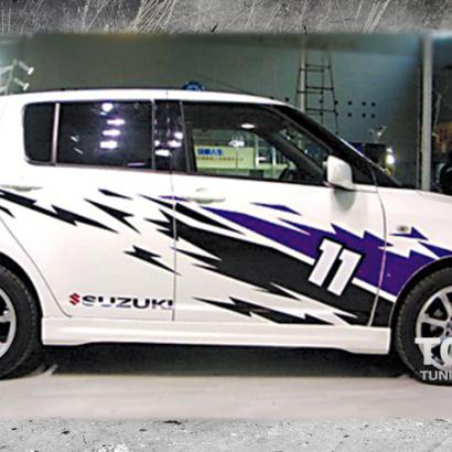 Наклейки на авто - полноформатный комплект на Suzuki