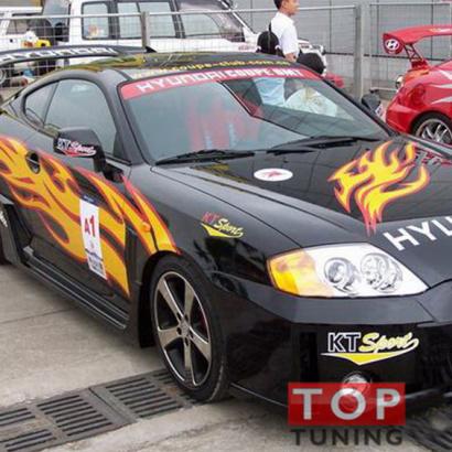 Наклейки на авто - полноформатный комплект на Hyundai Tiburon Coupe