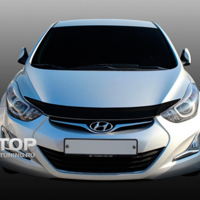 Молдинг капота  на Hyundai Elantra 5 (Avante MD)