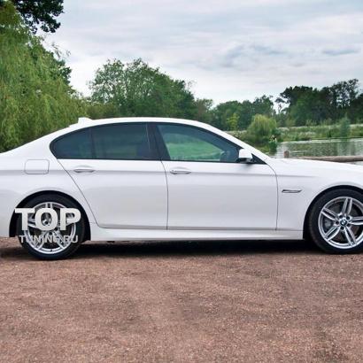Накладки на пороги на BMW 5 F10