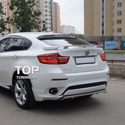 Накладки на задний бампер на BMW X6 E71