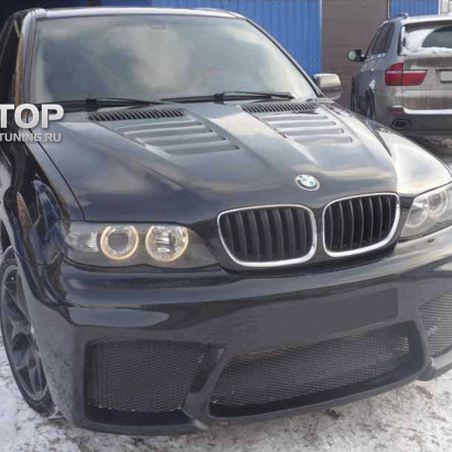 Передний бампер на BMW X5 E53