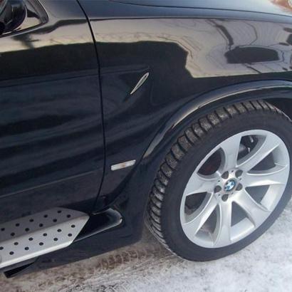 Расширители передних арок на BMW X5 E53