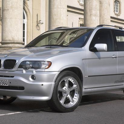 Юбка переднего бампера на BMW X5 E53