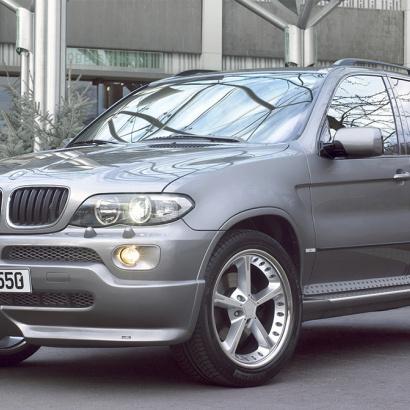 Накладка на передний бампер на BMW X5 E53