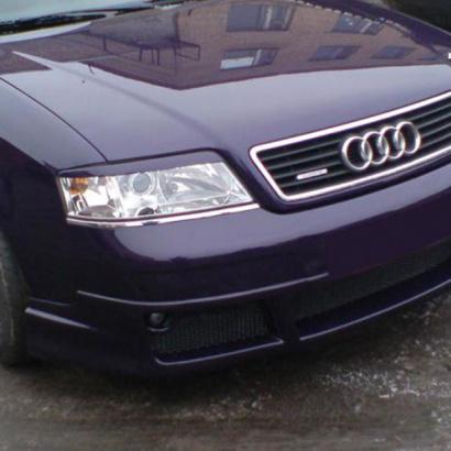 Накладка на передний бампер на Audi A6 C5