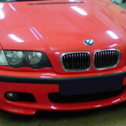 Передний бампер на BMW 3 E46