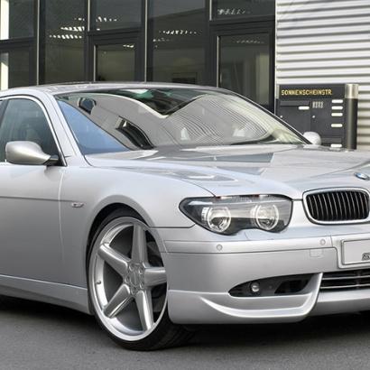Накладка на передний бампер на BMW  7 E65