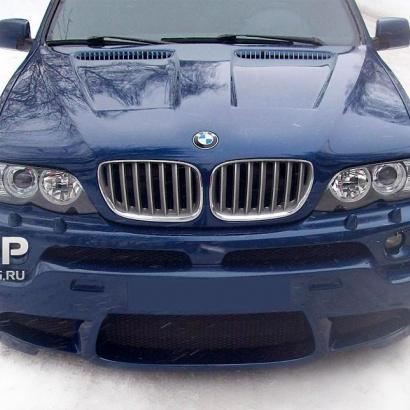 Капот с жабрами на BMW X5 E53