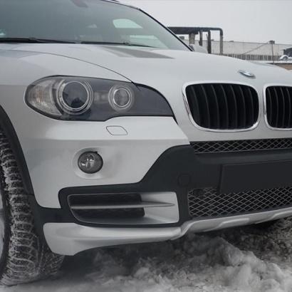 Юбка переднего бампера на BMW X5 E70