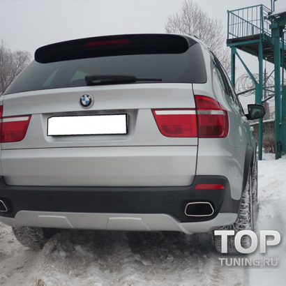 Накладка на задний бампер на BMW X5 E70