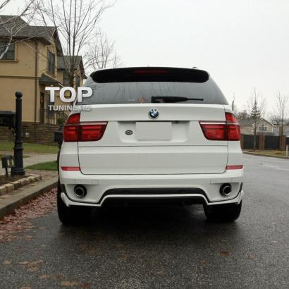 Юбка заднего бампера на BMW X5 E70