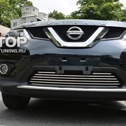 Решетка переднего бампера на Nissan X-Trail T32
