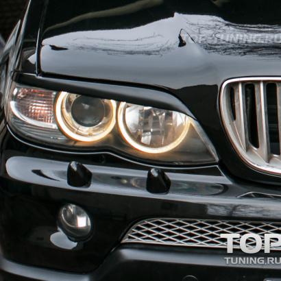 Реснички на фары на BMW X5 E53