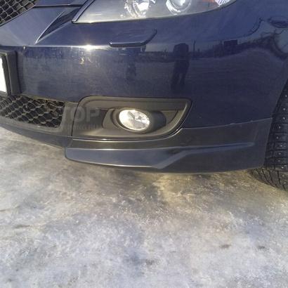 Клыки на передний бампер на Mazda 3 BK