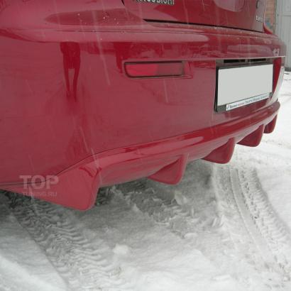 Диффузор на задний бампер на Mitsubishi Lancer 10 (X)