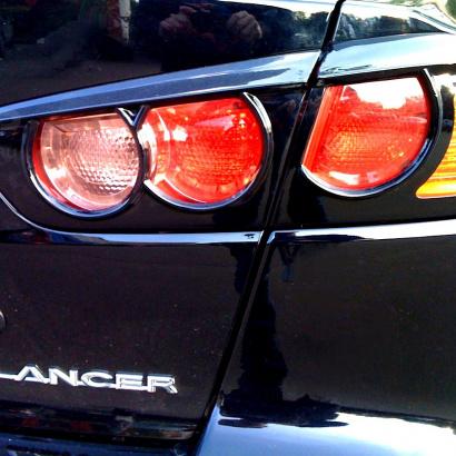 Накладки на задние фонари на Mitsubishi Lancer 10 (X)