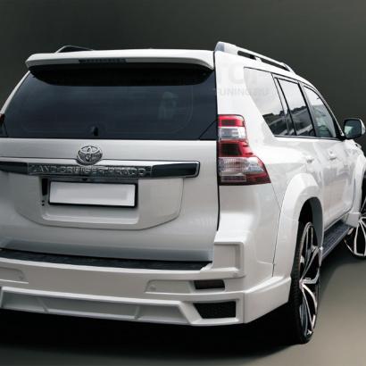 Накладка на задний бампер на Toyota Land Cruiser Prado 150