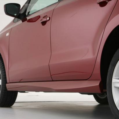 Накладки на пороги на VW Polo 5