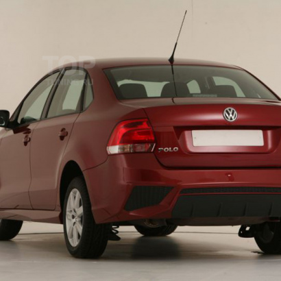 Задний бампер на VW Polo 5