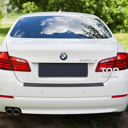 Накладка на задний бампер на BMW 5 F10
