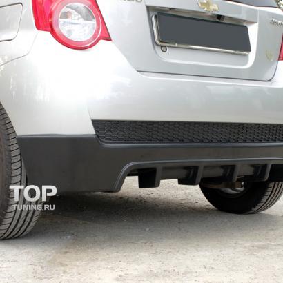 Накладка на задний бампер GT (дорестайлинг) на Chevrolet Aveo 1