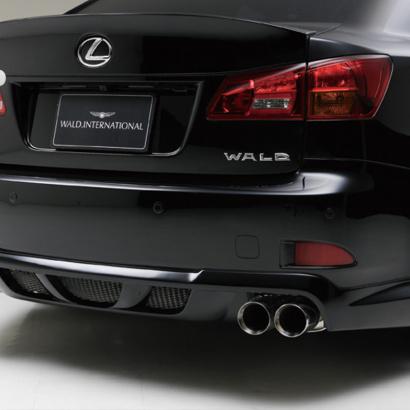 Юбка заднего бампера на Lexus IS 250