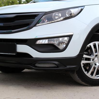 Накладка на передний бампер на Kia Sportage 3 (III)