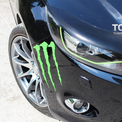 Реснички на переднюю оптику на Ford Focus 3