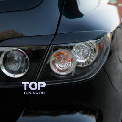 Реснички на заднюю оптику на Mazda 3 BK