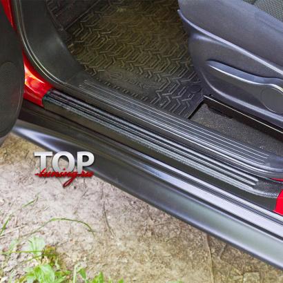 Накладки на внутренние пороги на Nissan Juke