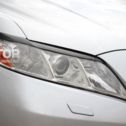 Накладки на переднюю оптику на Toyota Camry V40 (6)