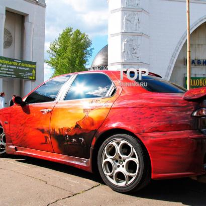 Накладки на пороги на Alfa Romeo 156