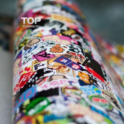 Рулон наклеек  Sticker bombing (120x120)