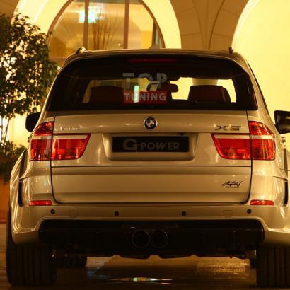 Задний бампер на BMW X5 E70