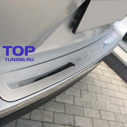 Накладка на задний бампер на Toyota Highlander 2