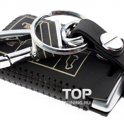 Кожаный чехол для смарт-ключа на Cadillac