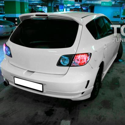 Задний бампер на Mazda 3 BK